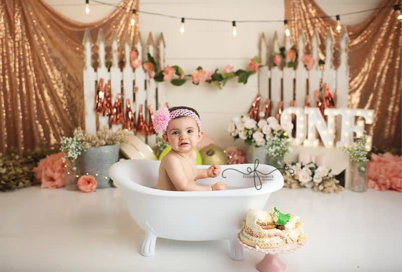 Princess & Frog Smash Cake | Smash Cake Photography in Connecticut | First Birthday Photos | CT Smash Cake Photographer ELizabeth Frederick Photography