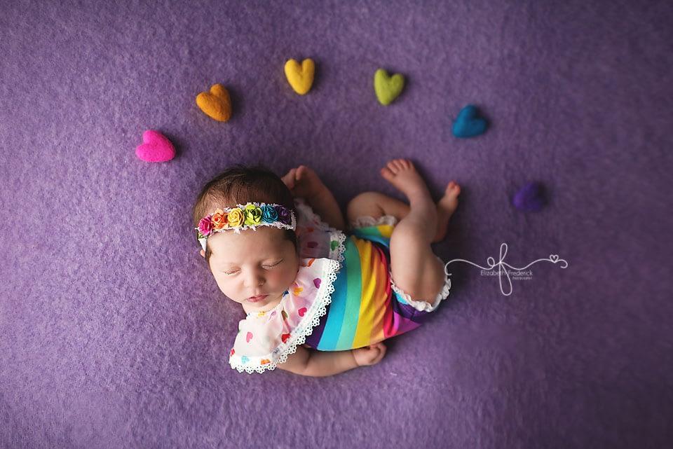 Rainbow baby | CT Newborn Photographer Elizabeth Frederick Photography