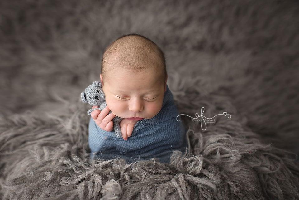 Potato sack pose CT Newborn Photographer