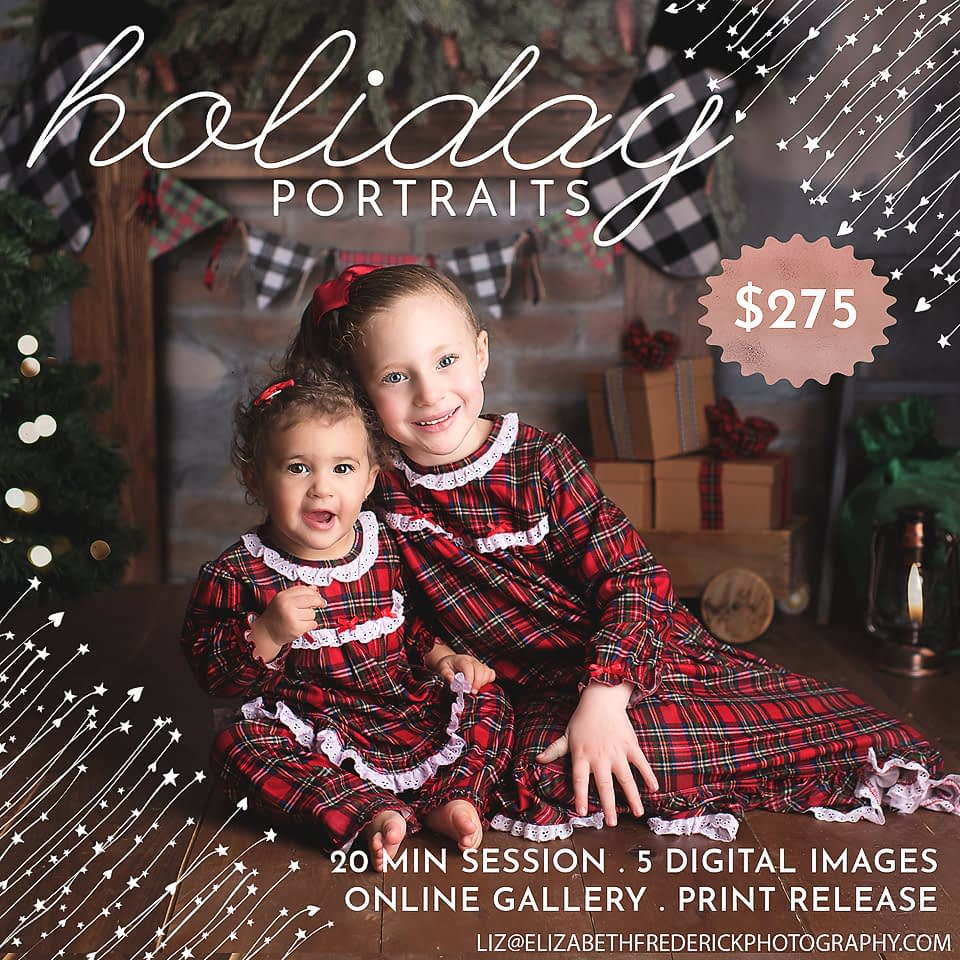 Holiday Mini Session, Christmas Mini Sessions, CT Photographer Elizabeth Frederick Photography